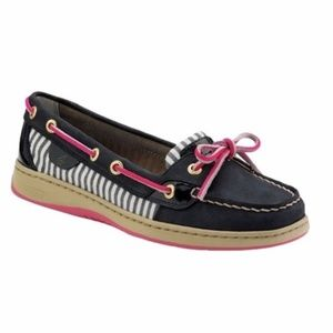 Sperry Top-Sider Angelfish navy boat shoes size 7